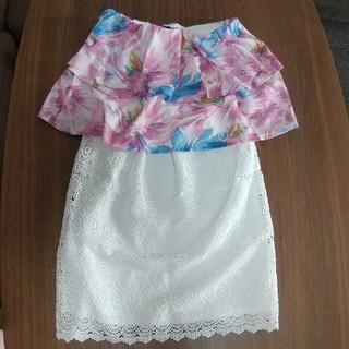 rienda - rienda  1着だけで着れる花柄ワンピース