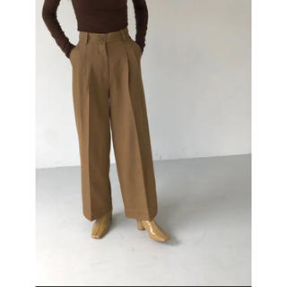 TODAYFUL - todayful Twill Tuck Trousers ワイドパンツ