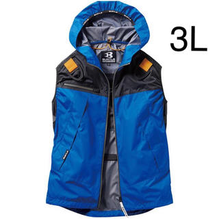 バートル(BURTLE)の新品 空調服 ベスト バートル ロイヤルブルー 3L  服のみ(ベスト)