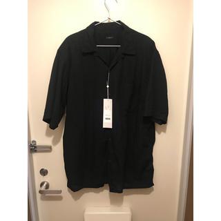 コモリ(COMOLI)のCOMOLI 20SS ベタシャン オープンカラーシャツ 黒 3 新品未使用(シャツ)