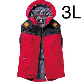 バートル(BURTLE)の新品 空調服 ベスト バートル カーディナル 3L  服のみ(ベスト)