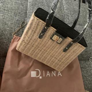 ダイアナ(DIANA)のDIANA♡新品未使用ケリー型カゴバッグ(かごバッグ/ストローバッグ)