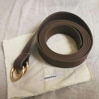 TODAYFUL - todayful  Ecoleather Long Belt