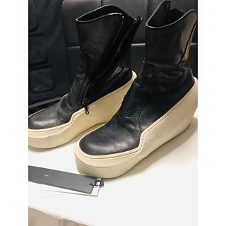 JULIUS - JULIUS ユリウス ポリゴンソールスニーカー ブーツ 靴 厚底 白 黒