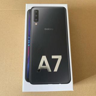 サムスン(SAMSUNG)のGalaxy A7 64GB ブラック 楽天モバイル SIMフリー(スマートフォン本体)