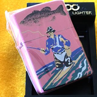 ZIPPO - ZIPPO B&S DESIGN 漆塗り フィッシャーマン 釣り人 サケ ピンク