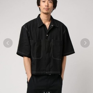 コモリ(COMOLI)のbig poket shirt ステッチシャツ(シャツ)
