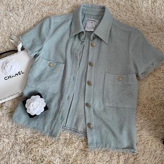 シャネル(CHANEL)のCHANEL シャネル サマーツイードシャツ(シャツ/ブラウス(半袖/袖なし))