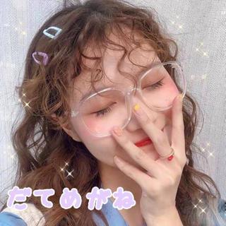 ◆大人気◆クリアフレーム 伊達メガネ 可愛い プチプラ 韓国 オルチャン 透明(サングラス/メガネ)