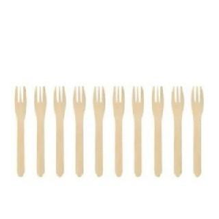 イケア(IKEA)のイケア 天然竹 フォーク 10本 (カトラリー/箸)