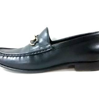 グッチ(Gucci)のグッチ ローファー 36 C レディース - 黒(ローファー/革靴)