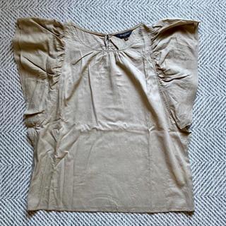 デミルクスビームス(Demi-Luxe BEAMS)のDemi-Luxe BEAMS 肩フリルブラウス カーキ 36(シャツ/ブラウス(半袖/袖なし))