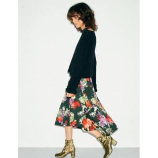 フレイアイディー(FRAY I.D)のフレイアイディー カシュクールフレアースカート フレアスカート(ひざ丈スカート)