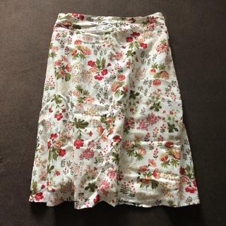 ドゥファミリー(DO!FAMILY)の未使用❗️ Do!family  花柄スカート100%綿 (ひざ丈スカート)