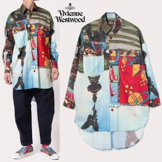 ヴィヴィアンウエストウッド(Vivienne Westwood)のVivienneWestwood 20SS ピカデリー柄ロングシャツ(シャツ)