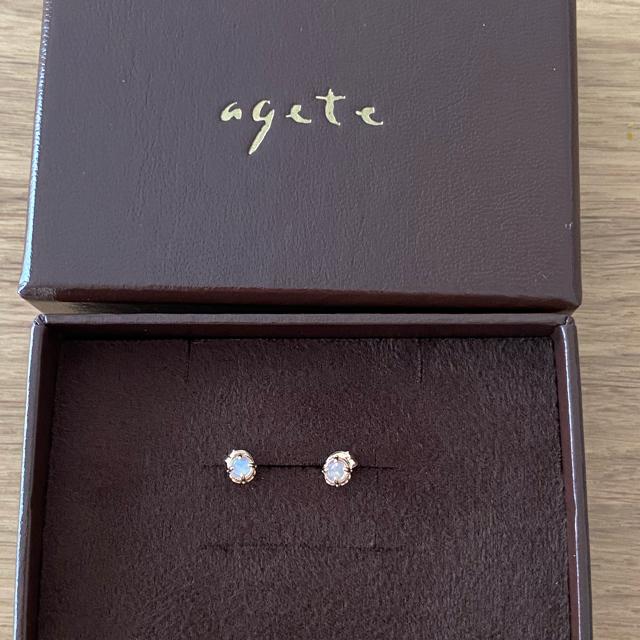 agete(アガット)のagete  K10ピアス オパール レディースのアクセサリー(ピアス)の商品写真