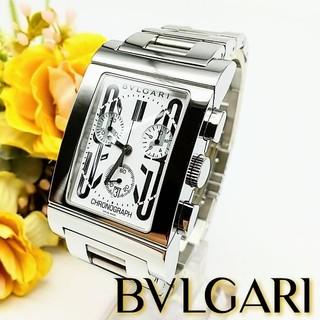 ブルガリ(BVLGARI)の極美品 2ヶ月保証 ブルガリ レッタンゴロ  クロノグラフ メンズ腕時計(腕時計(アナログ))