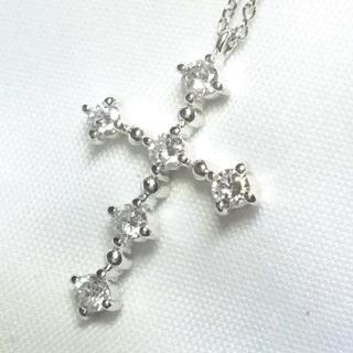 Vendome Aoyama - 【ヴァンドーム青山】プラチナ&ダイヤモンド0.37ct クロス ネックレス