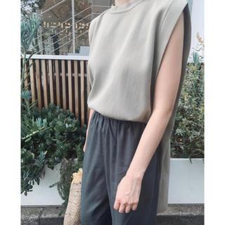 ENFOLD - RIM.ARK  back long square knit tops