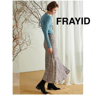 フレイアイディー(FRAY I.D)の即購入OK【新品未使用】フレイアイディー小花柄イレギュラーヘムスカート(ロングスカート)