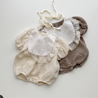 美品★ Noeul milk rompers - bib set -
