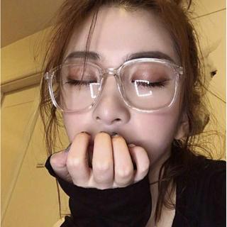【大人気!】伊達メガネ クリアー 透明 シンプル 韓国 オルチャン(サングラス/メガネ)