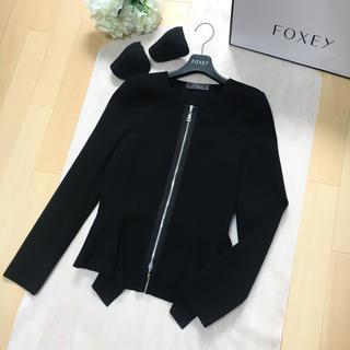 FOXEY - 【美品】FOXEY フォクシー お裾が素敵 サマーニット ジャケット