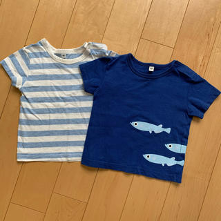 ムジルシリョウヒン(MUJI (無印良品))の半袖 80cm 2枚 無印(Tシャツ)