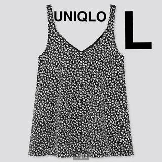 ユニクロ(UNIQLO)の新品 ユニクロ ビーチフレアブラタンクトップ フラワー L(水着)