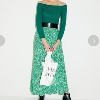 FRAY I.D - フレイアイディ- ナローフレアフラワースカート グリーン 美品