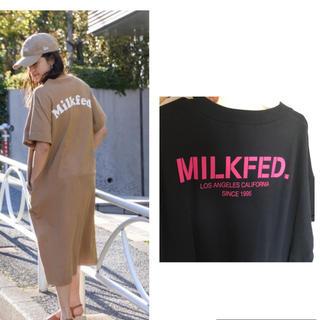 ミルクフェド(MILKFED.)のMILKFED.  ロゴTワンピース(ロングワンピース/マキシワンピース)