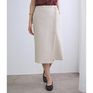 ROPE - 【洗える】ポリエステルツイルラップスカート