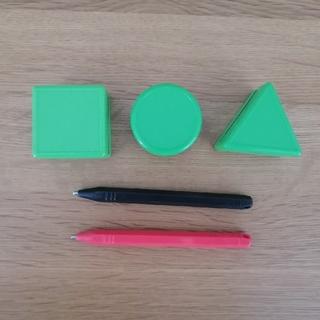 タカラトミー(Takara Tomy)の2カラーせんせい 黒ペン 赤ペン スタンプ 5点セット (知育玩具)