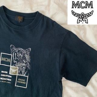 エムシーエム(MCM)のレア MCM Tシャツ デカロゴ Lサイズ(Tシャツ/カットソー(半袖/袖なし))