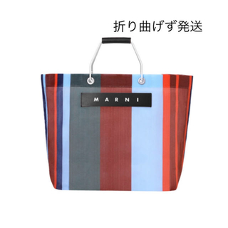 Marni - 新品 MARNI FLOWER CAFE ストライプバッグ ラッカーレッド
