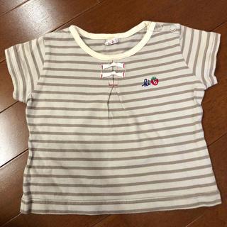ムジルシリョウヒン(MUJI (無印良品))のボーダーTシャツ(シャツ/カットソー)