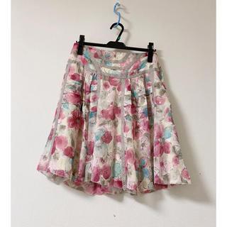 JILLSTUART - 【ジルスチュアート】フラワープリントスカート