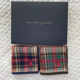 Ralph Lauren - 新品ラルフローレンポニー刺繍タオルハンカチユニセックスデザインミニタオル2枚本物