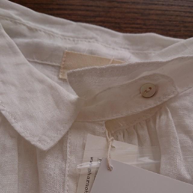 nest Robe(ネストローブ)の新品タグ付き【a+coloni 】ベルギーリネンシャツOP  オフホワイト レディースのトップス(シャツ/ブラウス(長袖/七分))の商品写真
