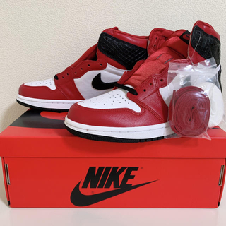 ナイキ(NIKE)のNIKE AIR JORDAN 1 SATIN SNAKE RED 26.0(スニーカー)