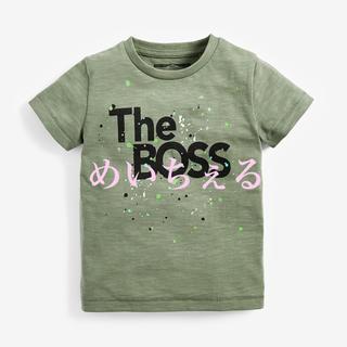 ネクスト(NEXT)の【新品】カーキ 半袖オーガニックコットン The Boss Tシャツ(ヤンガー)(Tシャツ)