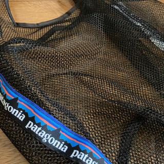 パタゴニア(patagonia)のハンドメイド エコバッグ  メッシュバッグ 黒 パタゴニア  (エコバッグ)