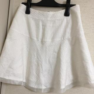 ロディスポット(LODISPOTTO)のロディスポット ホワイト スカート サイズ64 日本製(ミニスカート)