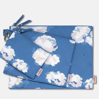 キャスキッドソン(Cath Kidston)の新品 3つセット キャスキッドソン 雲 ポーチ Clouds 日本未発売 ?(ポーチ)