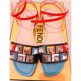 フェンディ(FENDI)のフェンディ フラット サンダル 36.5 (23.5cm) 一度のみ着用(サンダル)