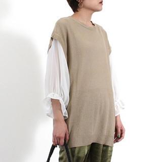 Mila Owen - 【新品タグ付き】☆Riche glamour☆ 鹿の子編みドッキングベスト
