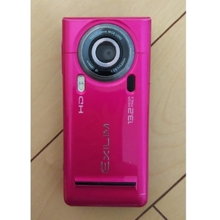 カシオ(CASIO)のガラケーau CASIO EXILM/CA003/ピンク 充電器セット(携帯電話本体)