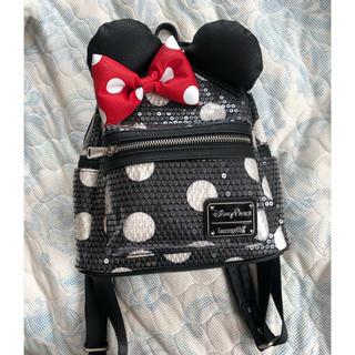 Disney - Disney×loungefly ミニー柄リュックサック