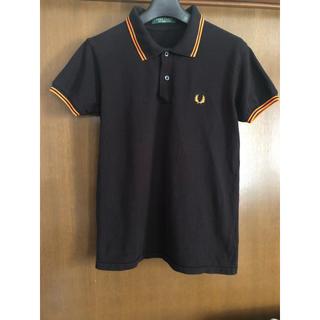 フレッドペリー(FRED PERRY)のFRED PERRY フレッドペリー ポロシャツ 黒×オレンジ(ポロシャツ)