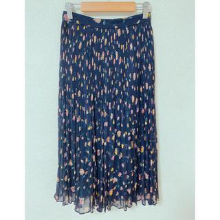 リリーブラウン(Lily Brown)のLily Brown 花柄プリーツチュールスカート(ひざ丈スカート)